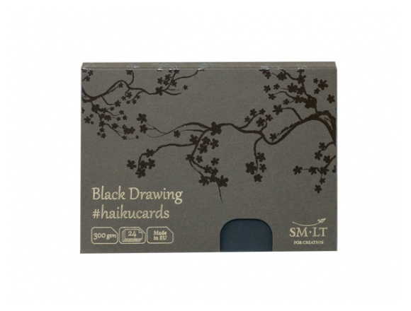 HAIKU - BLACK CARDS IN THE BOX 24 SH 300 GSM C-24(300)/BLACK