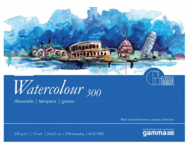 Blok Gamma Watercolour 300 g 12,5x18